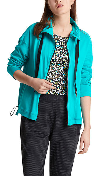 Jersey jacket with sophisticated back