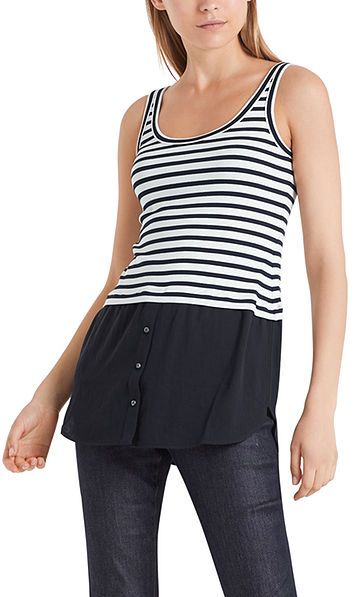 Long striped top in jersey