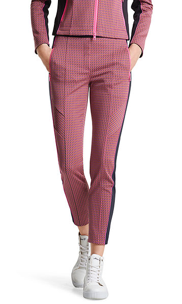 Pantalon stretch à motif