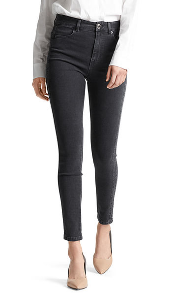 Stretchy, skinny jeans met hoge taille