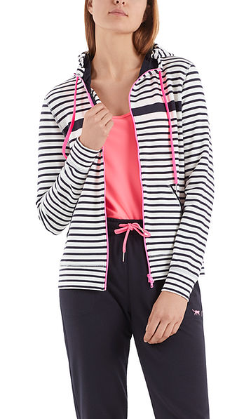 Hooded jacket with neon details