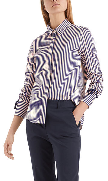 Blouse with ribbon details
