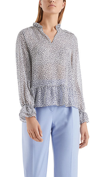 Playful leopard blouse