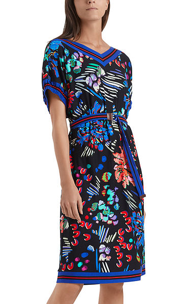 Printed jersey dress with viscose