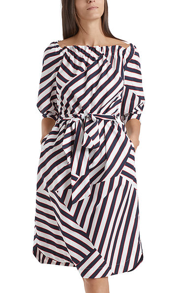 Striped dress in cotton