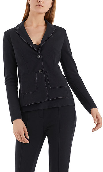 Sophisticated knitted blazer with lurex