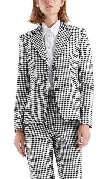 Exquisite blazer with Vichy check