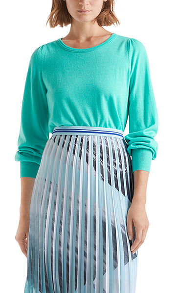 Pull-over en fine maille à manches gigot