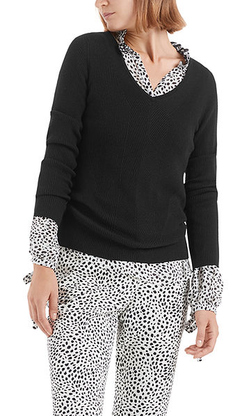 Pull-over fine maille, laine, cachemire