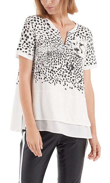 Bedrucktes Longshirt aus Baumwolle