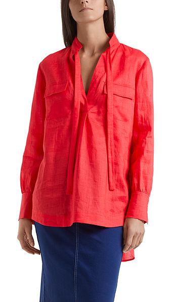 Oversized blouse in ramie fabric