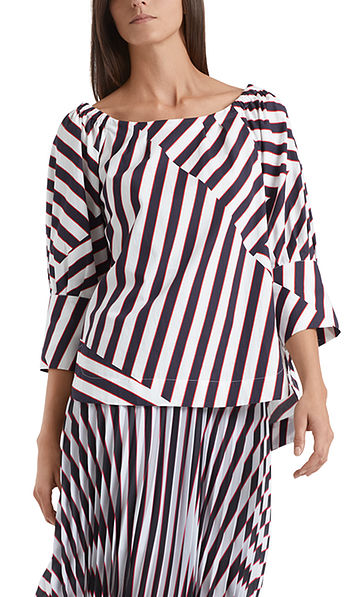Cotton blouse with striped design