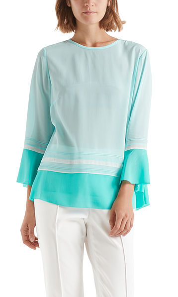 Exclusive viscose/silk blouse-style top