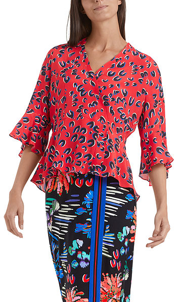 Classy leopard-print blouse-style top