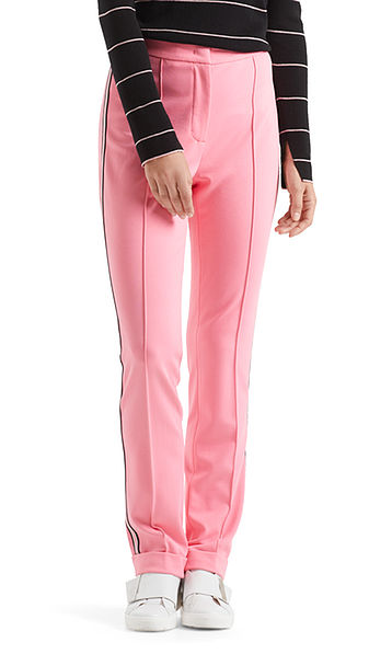 Sportive Jerseyhose mit Streifen