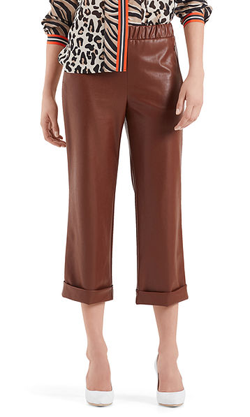 Culottes in faux leather