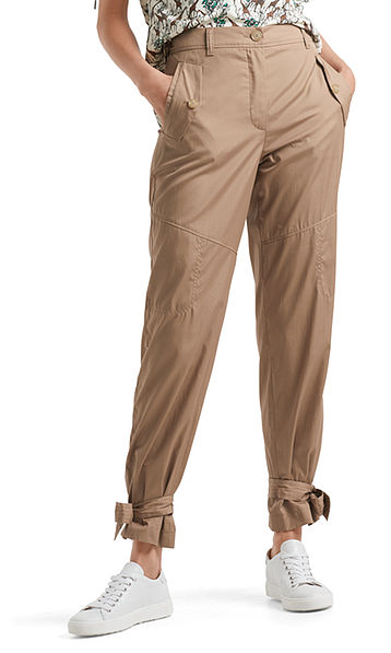 Katoenen pantalon in safari-stijl