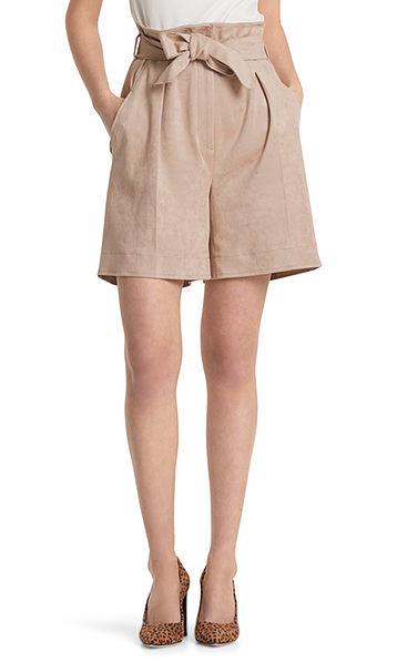 High-Waist-Shorts aus Fun-Velours