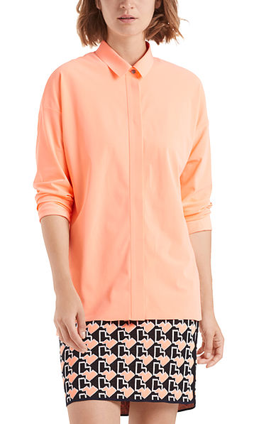 Blouse in stretch jersey