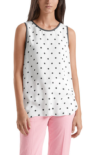 Top with tennis ball print