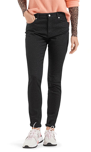 Jeans with subtle leopard pattern