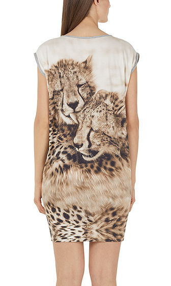 Marc cain kleid animal print